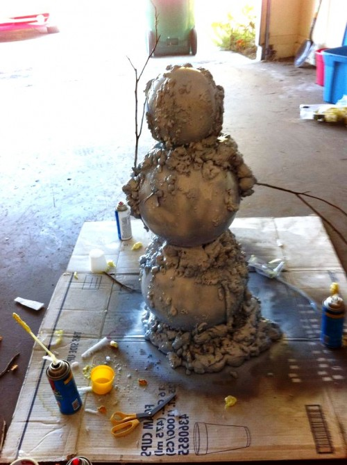 Снеговик из модулей - снеговик картинки (8)