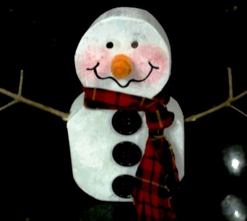 Поделки из дерева своими руками - сделать снеговика своими руками (1)