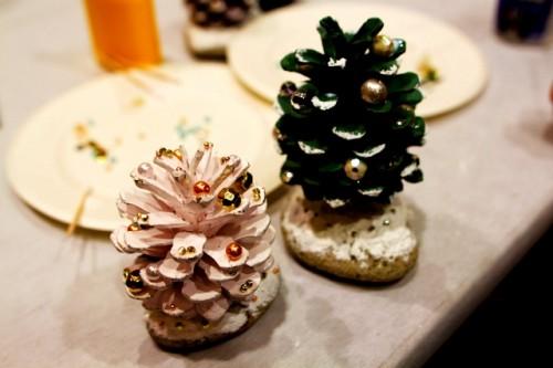 Поделки из природного материала своими руками - елка руками (1)