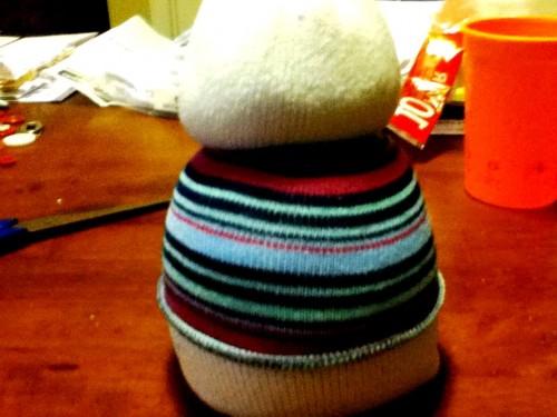 Новогодние игрушки поделки своими руками - снеговики своими руками (22)