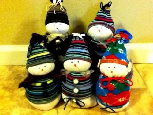 Новогодние игрушки поделки своими руками - снеговики своими руками (42)