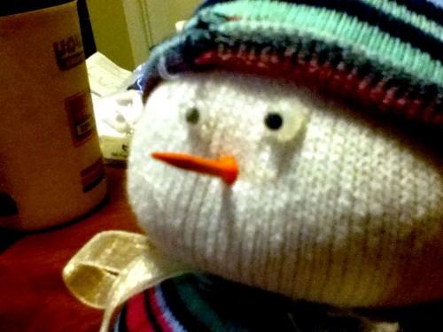 Новогодние игрушки поделки своими руками - снеговики своими руками (43)