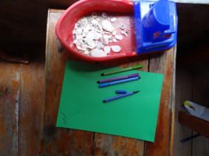 Детские поделки из ракушек (9)