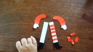 Поделки на Новый год для детей - Новогодний Дед Мороз (6)