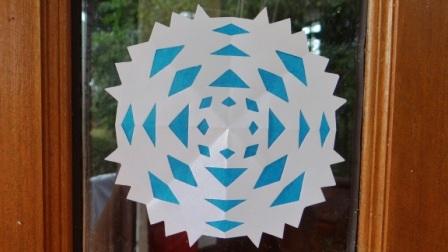 Бумажная снежинка - Трафареты снежинок (4)