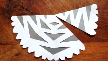 Как вырезать красивые снежинки - Новогодняя снежинка (9)