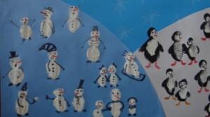 Зимние рисунки с детьми - новогодний коллаж (4)