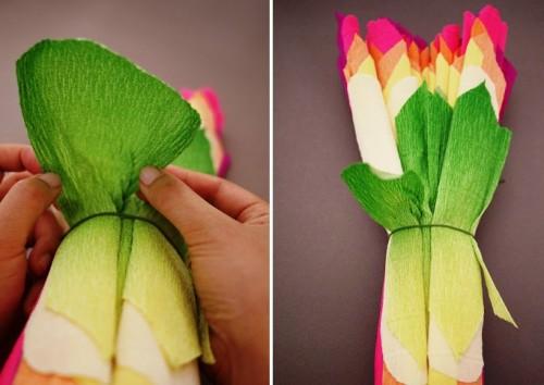Большие цветы из бумаги - весеннее настроение на каждый день (7)
