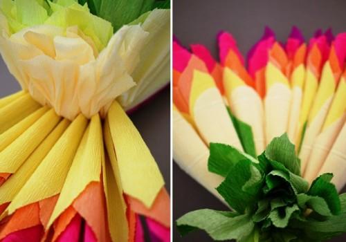 Большие цветы из бумаги - весеннее настроение на каждый день (6)