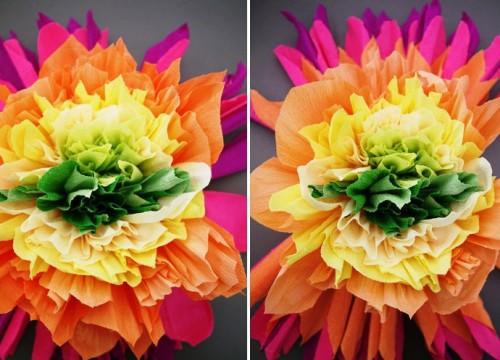 Большие цветы из бумаги - весеннее настроение на каждый день (4)