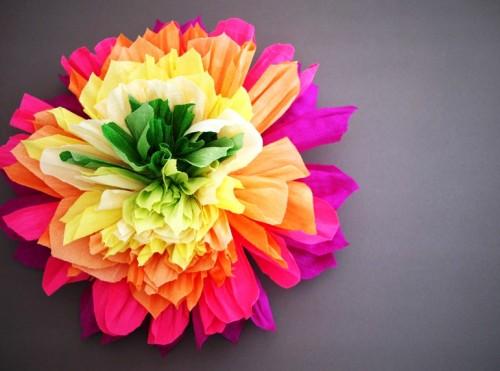 Большие цветы из бумаги - весеннее настроение на каждый день (3)