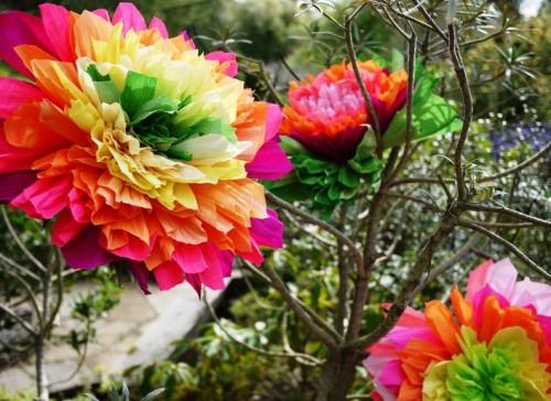 Большие цветы из бумаги - весеннее настроение на каждый день (2)