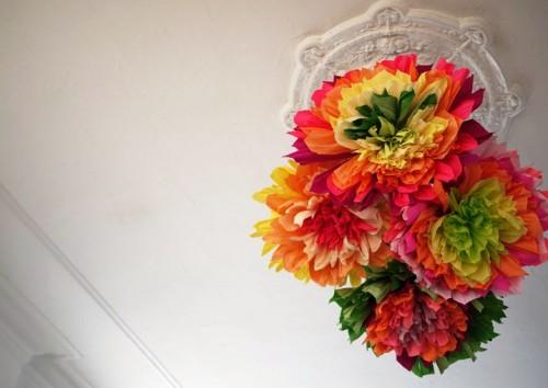 Большие цветы из бумаги - весеннее настроение на каждый день (1)
