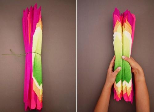 Большие цветы из бумаги - весеннее настроение на каждый день (9)