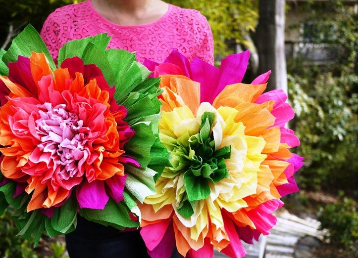 Большие цветы из бумаги – весеннее настроение на каждый день