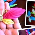 Бумажные бабочки - наклейки для декора 1