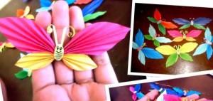 Бумажные бабочки — наклейки для декора