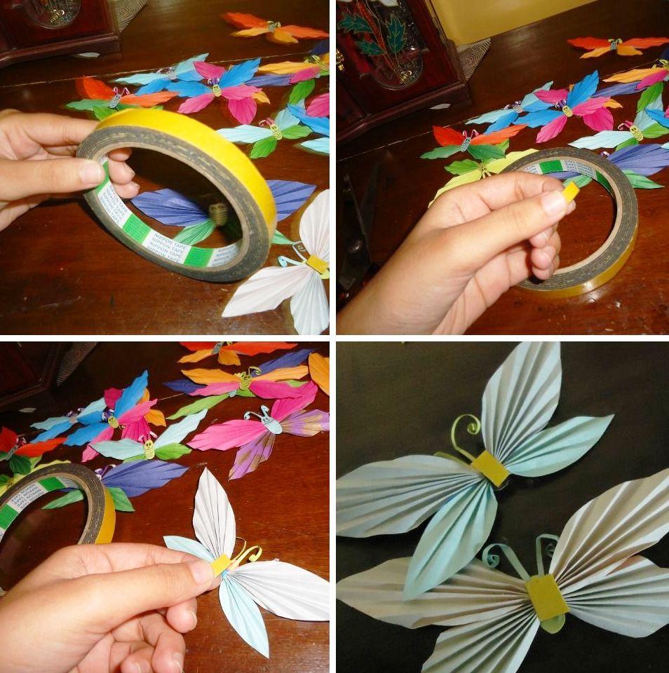 Поделка бабочка делаем с детьми