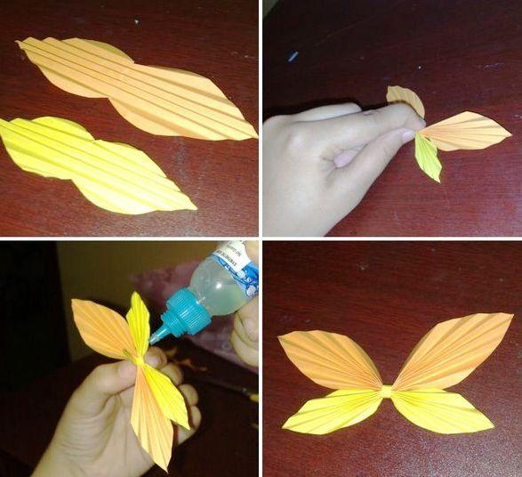 Как сделать бабочку из цветной бумаги своими руками