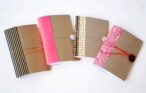 Как сделать блокнот своими руками - самодельный подарок на Новый Год (1)