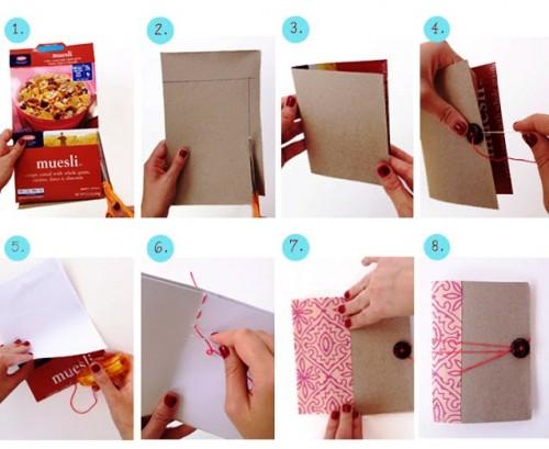 Как сделать блокнот своими руками - самодельный подарок на Новый Год (3)