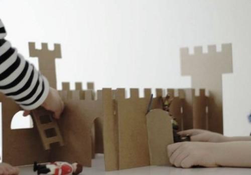 Как сделать замок из картона (3)