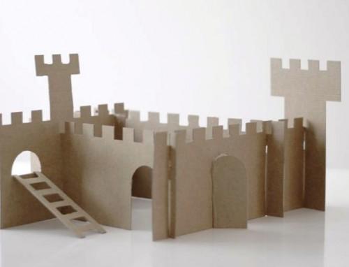 Как сделать замок из картона (2)