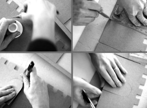 Как сделать замок из картона (1)