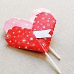 Как сделать оригами сердце - Красивая валентинка 2