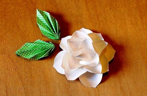 Сделать белый цветок из бумаги своими руками для акции 260