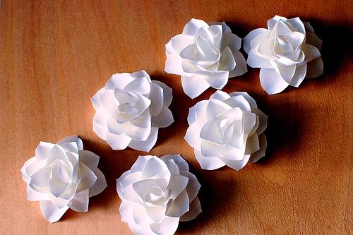 Сделать белый цветок из бумаги своими руками для акции 717