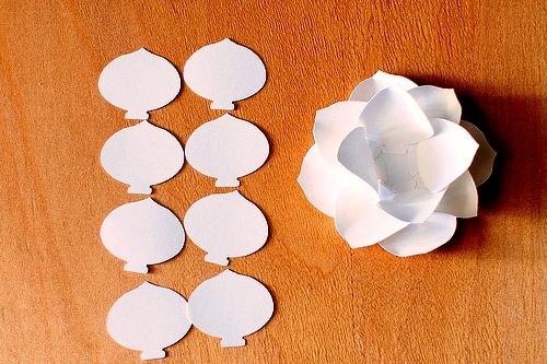 Как сделать цветы своими руками - цветы из бумаги мастер класс (9)