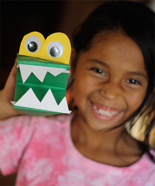 Монстр из бумаги - поделки оригами для детей (1)