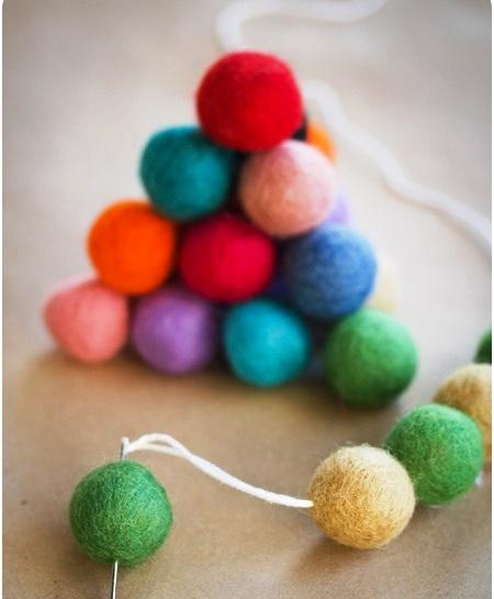 Новогодние игрушки из войлока - самодельные украшения (3)