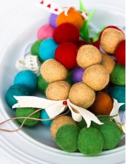 Новогодние игрушки из войлока - самодельные украшения (2)