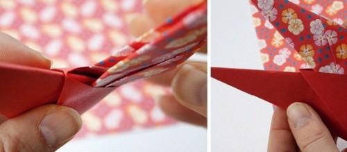Новогодние оригами из бумаги - объёмная звезда из бумаги (7)