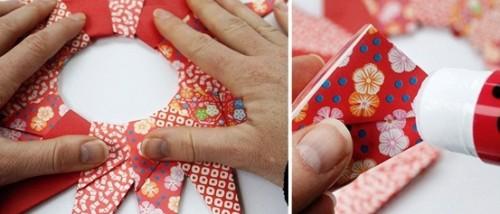 Новогодние оригами из бумаги - объёмная звезда из бумаги (5)