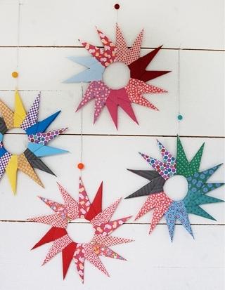 Новогодние оригами из бумаги - объёмная звезда из бумаги (4)