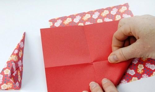 Новогодние оригами из бумаги - объёмная звезда из бумаги (3)