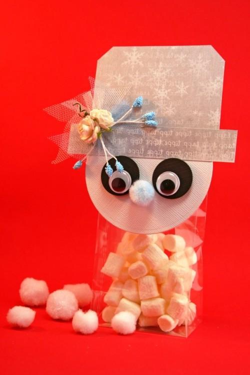 Новогодняя упаковка для конфет - мастер класс (13)