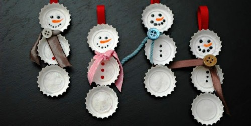 Аппликация снеговика своими руками