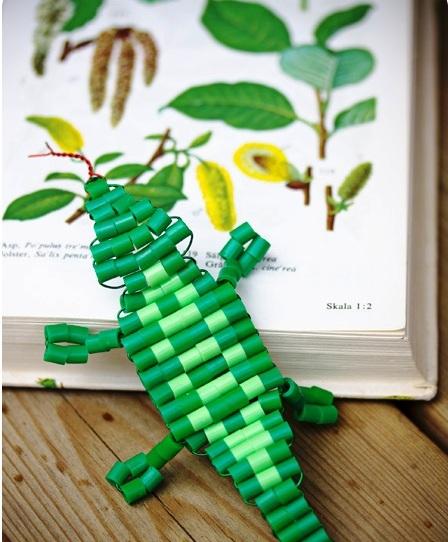 Схема кулона из бисера - как плести из бисера крокодила (2)