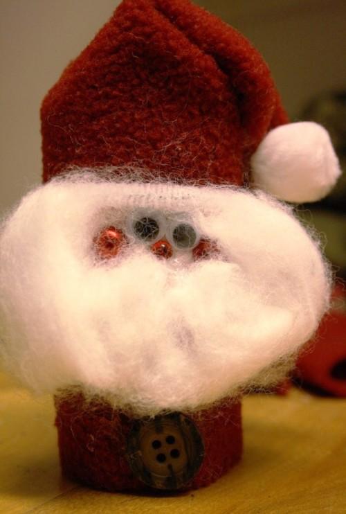 Фигурка деда мороза -детское творчество к Новому году (3)