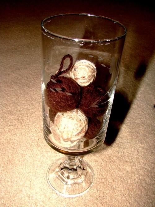 Как делать елочные игрушки - елочные шары своими руками (13)