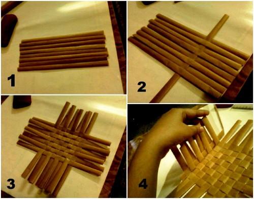 Корзины из бумаги - плетение корзин (4)
