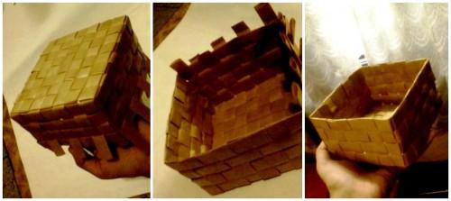 Корзины из бумаги - плетение корзин (6)