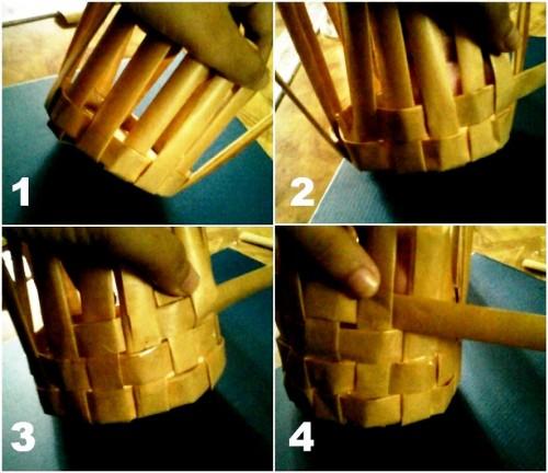 Корзины из бумаги - плетение корзин (10)