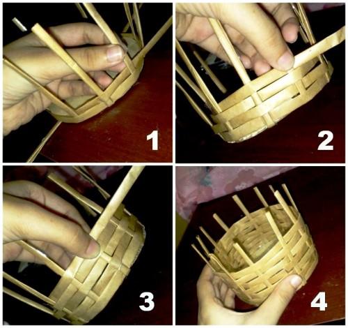 Корзины из бумаги - плетение корзин (14)