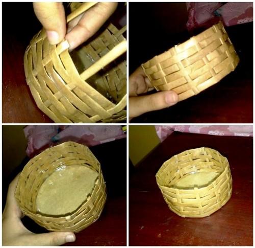 Корзины из бумаги - плетение корзин (15)