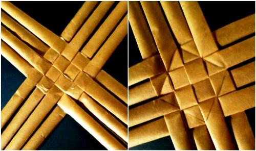 Корзины из бумаги - плетение корзин (16)